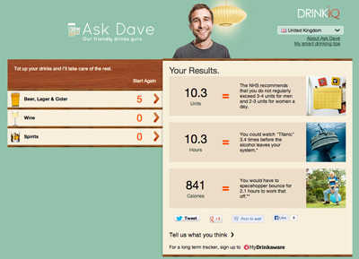 Ask Dave - Drink Calculator