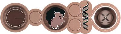 Google DNAの二重螺旋構造の解明に繋がる成果を残したロザリンド・フランクリン生誕93周年ロゴに!