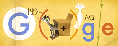 Google シュレーディンガー方程式やシュレーディンガーの猫で有名な物理学者エルヴィン・シュレーディンガー生誕126周年ロゴに!