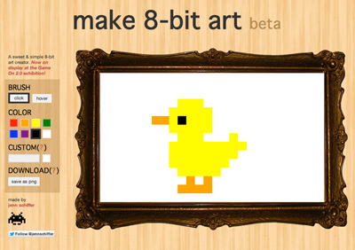 make 8-bit art, or else!