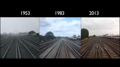 London to Brighton Train Journey: 1953 - 2013