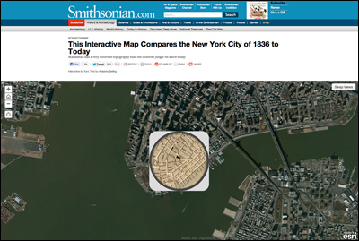 This Interactive Map Compares the New York City of 1836 to Today