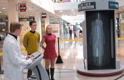 Star Trek Teleportation Stuns Shoppers