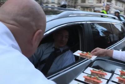 Thierry Marx en route pour Badoit Express !