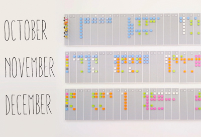 Lego calendar by Vitamins