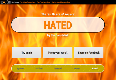 How Much Are You Hated By The Daily Mail? - by UsVsTh3m