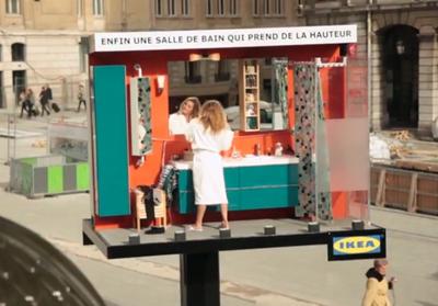 IKEA invente la première salle de bain live
