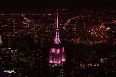 Empire State Building Halloween Light Show