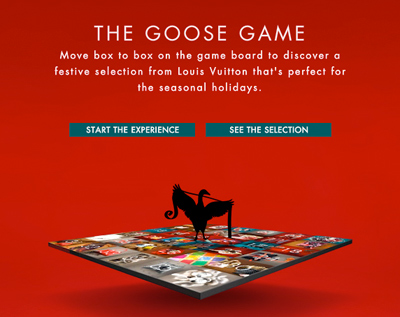 Louis Vuitton Presents The Goose's Game for the Holidays
