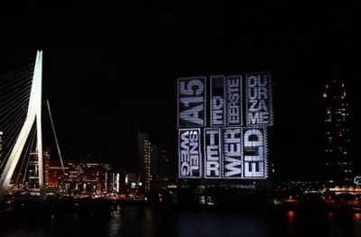 Grootste video mapping van Europa, in Rotterdam