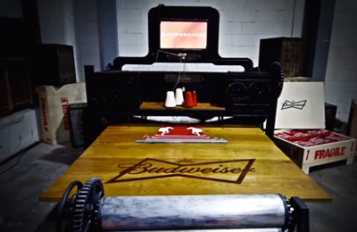 Budweiser's Tweet Powered Knitting Machine: Knitbot.