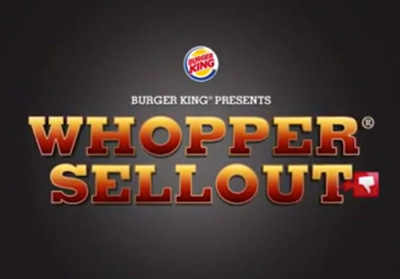 Burger King - Whopper Sellout