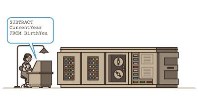 Google COBOL言語を開発した女性プログラマーのグレース・ホッパー生誕107周年で、UNIVAC Iを操作する女性のアニメーションロゴに!