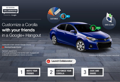 Toyota Google+ Corolla Collaborator