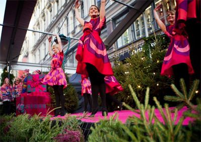 Marimekko's Holiday Season Celebration in Helsinki