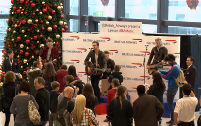 British Airways presents Lawson at Gatwick Airport #BAMusic