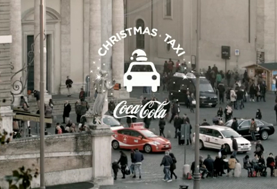 Coca-Cola Christmas Taxi in Rome