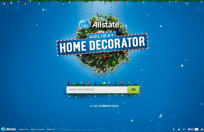 Allstate's Holiday Home Decorator