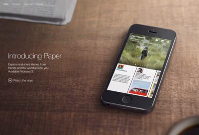 Facebookの新アプリ「Paper」