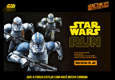 Star Wars Run' stunt