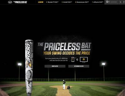 The Priceless Bat | Louisville Slugger