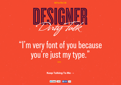 Designer Dirty Talk