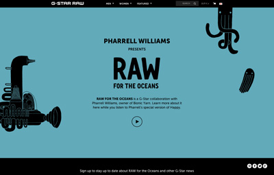 Pharrell Williams presents RAW for the Oceans.
