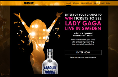 Absolut Vodka Goes Gaga
