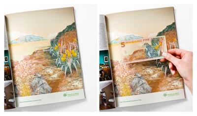 ニュージーランドの環境保護団体による雑誌広告