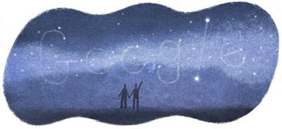 Google 7月7日は七夕。天の川が広がるイラストロゴに!