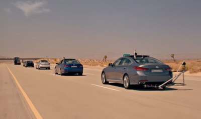 Hyundai : The Empty Car Convoy