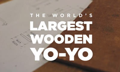 World's Largest Wooden Yo-Yo - Benjamin Moore