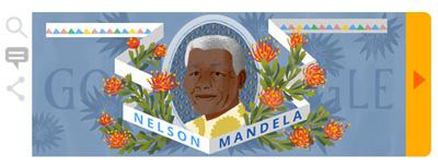 Google ネルソン・マンデラ生誕96周年を記念して、彼の残した言葉をたどるストーリーロゴに!