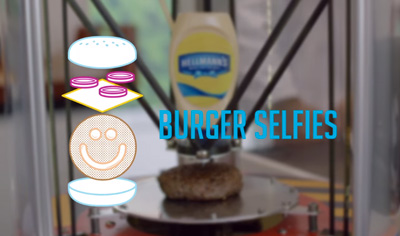 Hellmann's Summer Hacks: BURGER SELFIES.