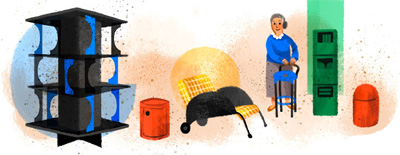 Google カルテルのコンポニビリのデザインで有名なアンナ・カステッリ・フェリエーリ生誕94周年ロゴに!