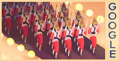 Google 阿波踊りのイラストロゴに!