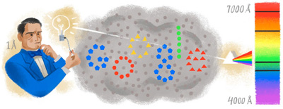Google スウェーデン出身の物理学者アンデルス・オングストローム生誕200周年記念ロゴに!