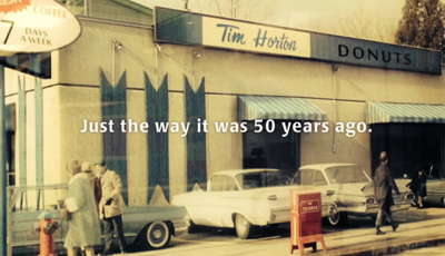 Tim Hortons travels back to 1964 #Tims50th