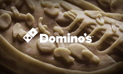 DOMINO'S POSTEROS - WORLD'S FIRST REAL DOUGH POSTER