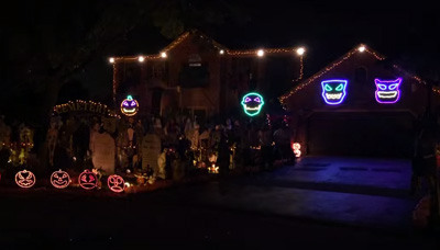 Halloween 2014 Light Show. Queen, Bohemian Rhapsody