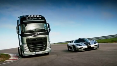 Volvo Trucks vs Koenigsegg