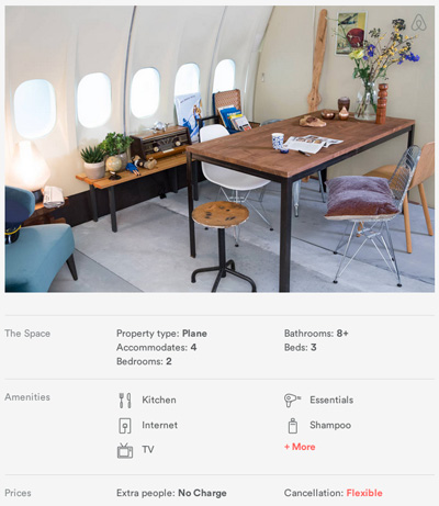 Spacious Airplane Apartment in Amsterdam Airport Schiphol