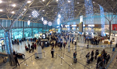 Christmas arrived at Helsinki Airport