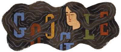 Google 日本の歌人 与謝野晶子生誕136周年を記念してみだれ髪のロゴに!