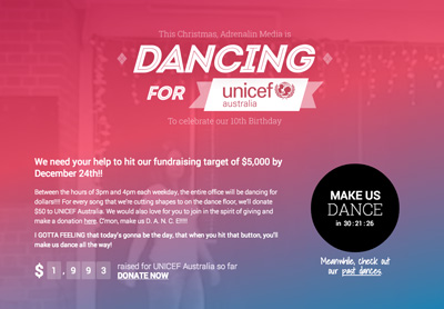 Adrenalin Media - Dancing for UNICEF!
