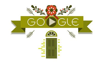 Google 2014年ホリデー シリーズロゴ3日目は、クリスマスのアニメーションに!