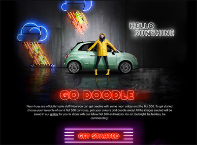 Fiat 500 Neon App