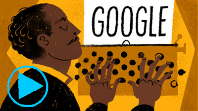 Google アメリカ人作家のラングストン・ヒューズ生誕113周年記念ロゴに!