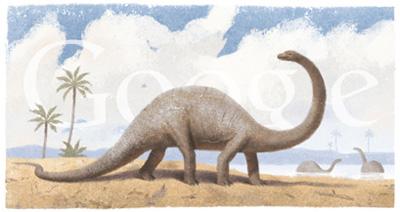 Google 恐竜画、古生物画家ズデニェク・ブリアン生誕110周年記念ロゴに! 110. výročie narodenia Zdeňka Buriana