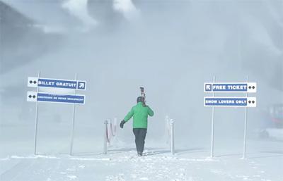 Snow guns stunt